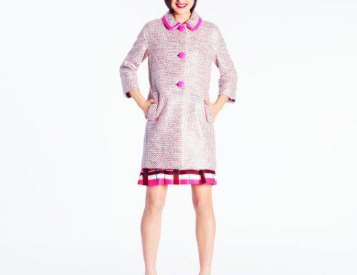 Kate Spade Tweed Pierce Coat