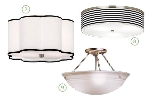 Flush-Mount Kitchen Lighting Options