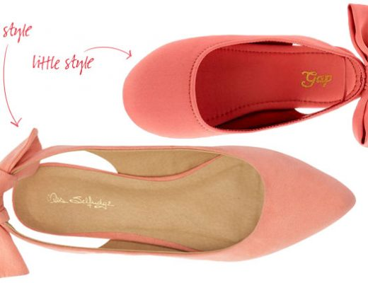 Little Style, Big Style: Coral Slingback Flats