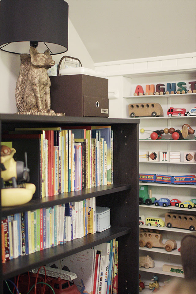 Shelves in August's Room