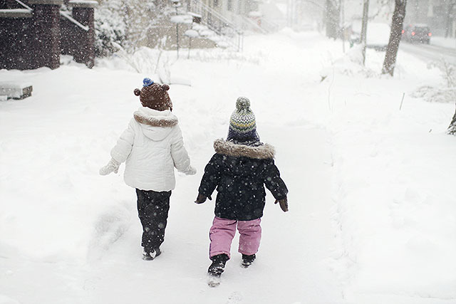 Eleanor and August in the Snow