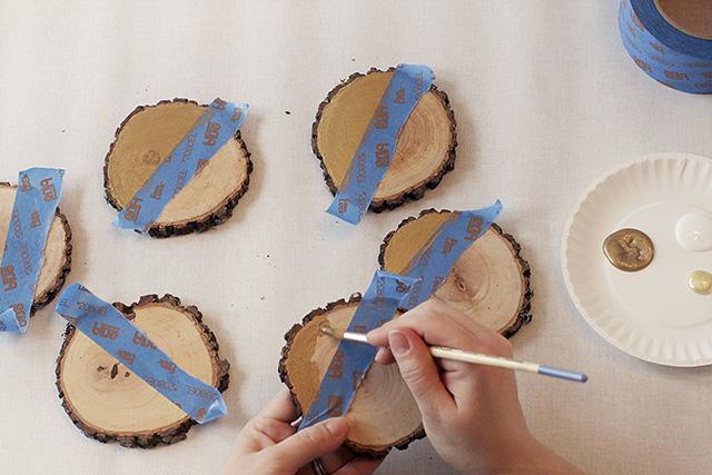 Making Wood Slice Invitations