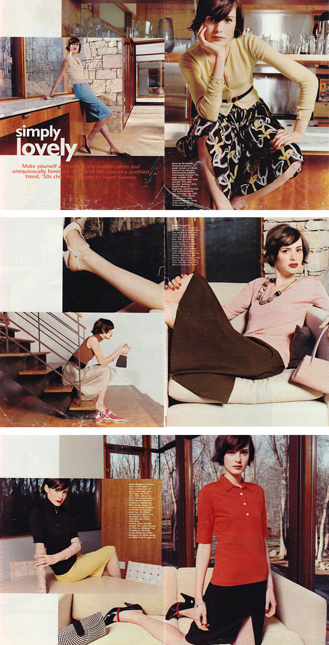 Mademoiselle Fashion Spread, Circa 2001