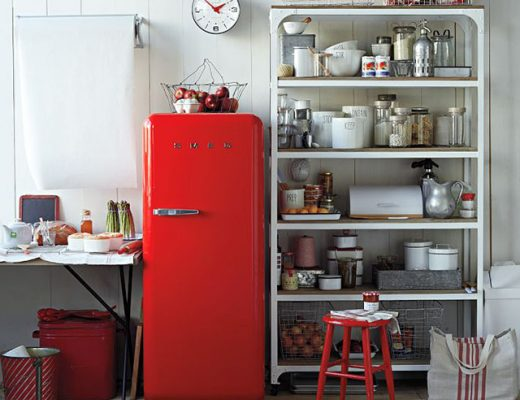 Red Smeg Fridge