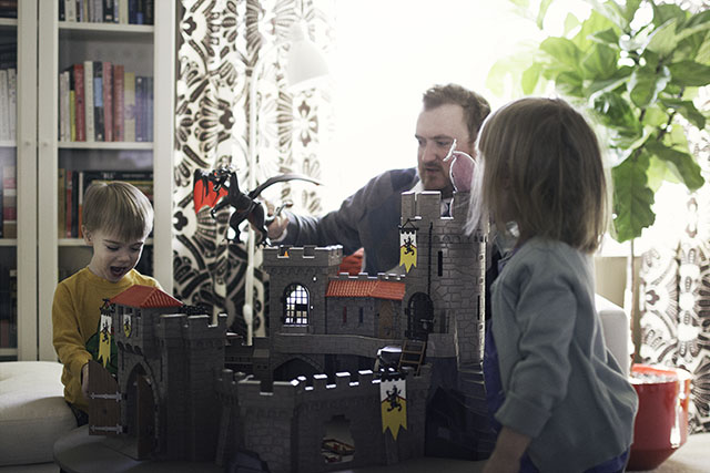 Playing with a Playmobil Castle