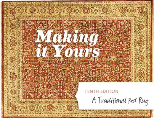 Making it Yours 10: A Traditional Red Rug