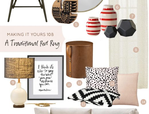 Making it Yours 10B: Traditional Red Rug