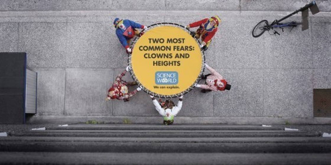 Two Most Common Fears: Clowns and Heights