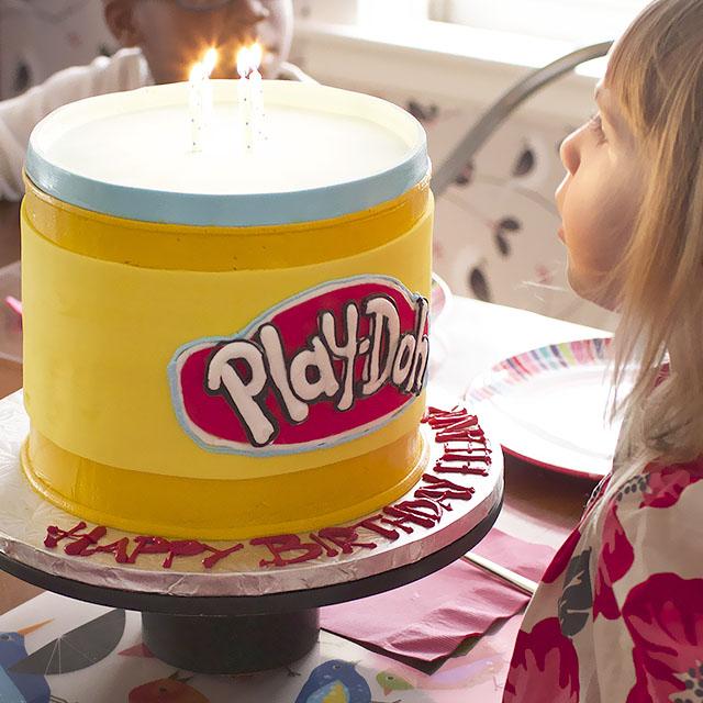 Astounding Play Doh Birthday Cake Making It Lovely Personalised Birthday Cards Veneteletsinfo
