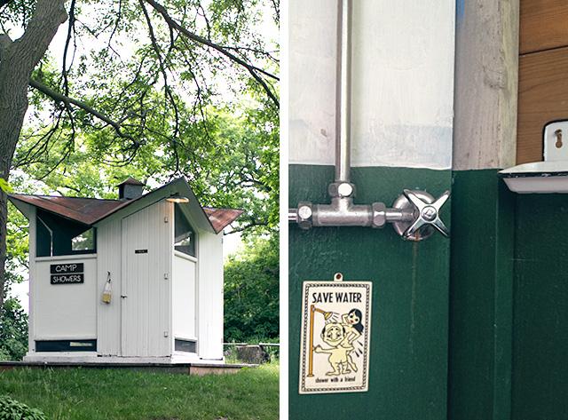 Camp Wandawega Showers