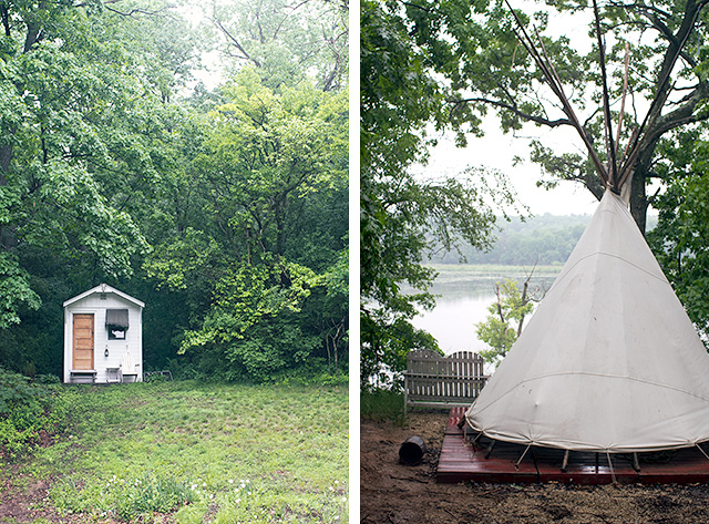 Camp Wandawega Cottage and Teepee