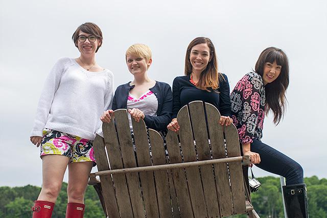 Nicole Balch, Heidi Gustad, Jessica Lively, and Kim Vargo
