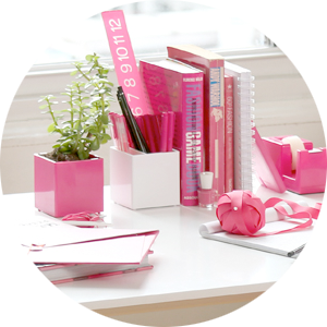 Pink Office Accessories