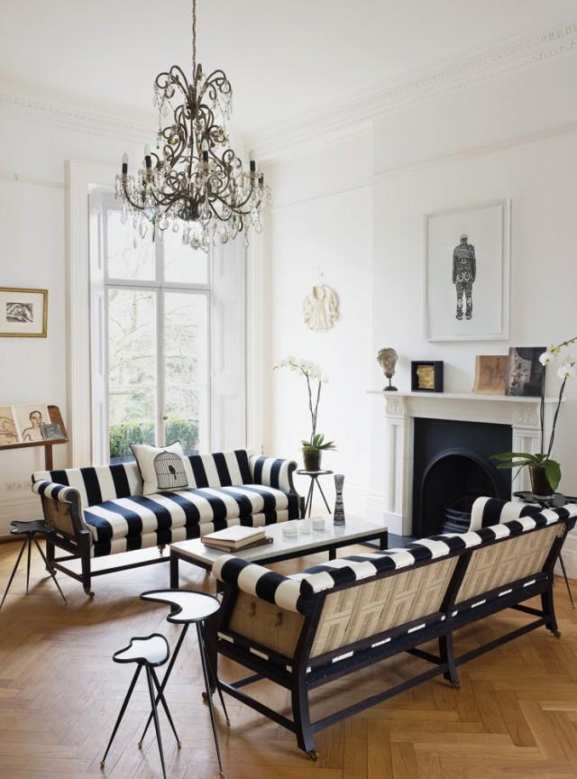 Striped Sofas