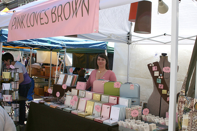Pink Loves Brown at the Renegade Craft Fair, 2007