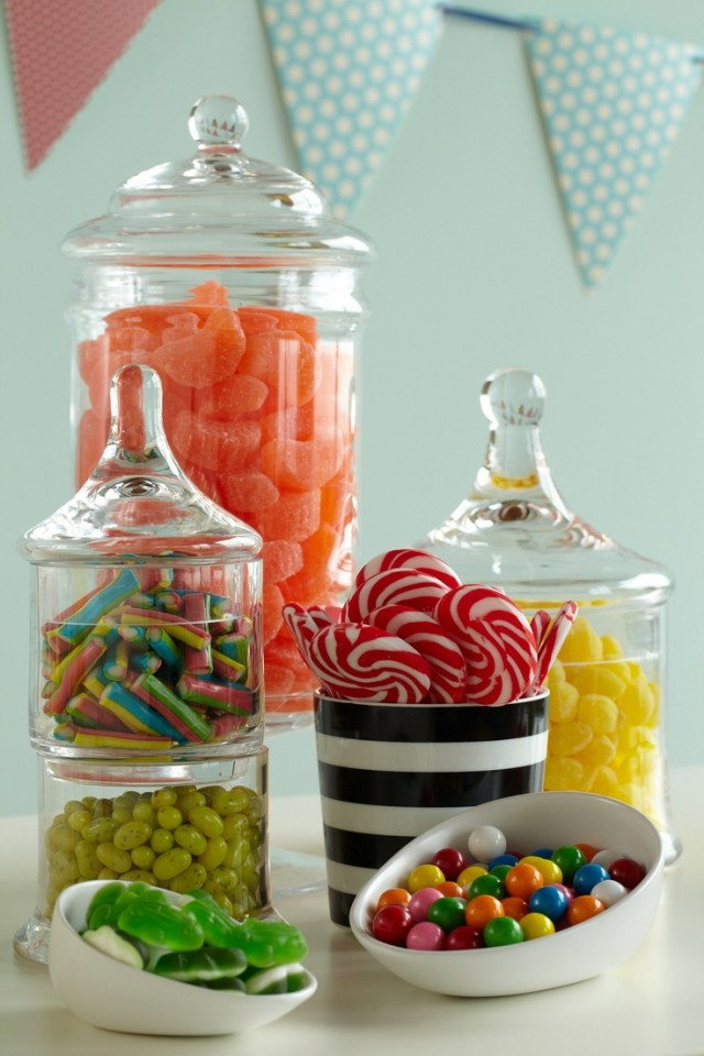 Comic Book Baby Shower Candy Sweets Table