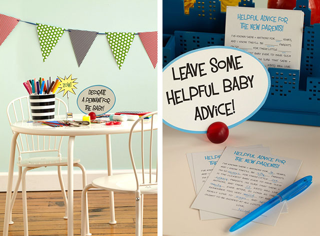 Comic Book Theme Baby Shower Activities