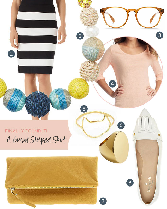 What to Wear with a Great Striped Skirt