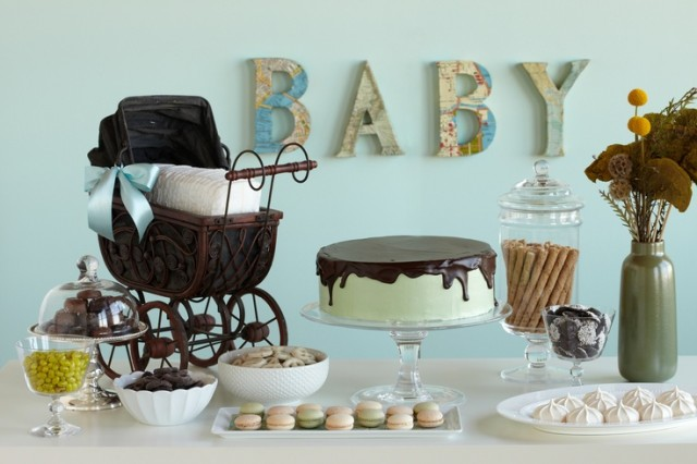 Welcome to the World Baby Shower Sweets Table