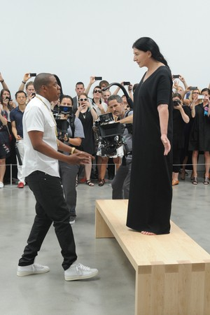 Jay-Z and Marina Abramovic