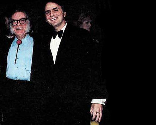 Isaac Asimov and Carl Sagan