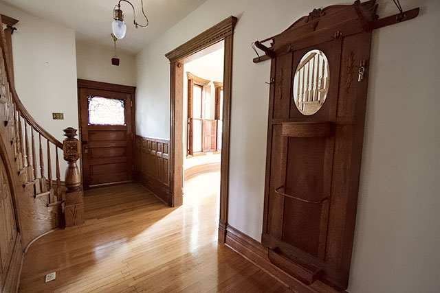 Stairs, Entryway and Coat Rack