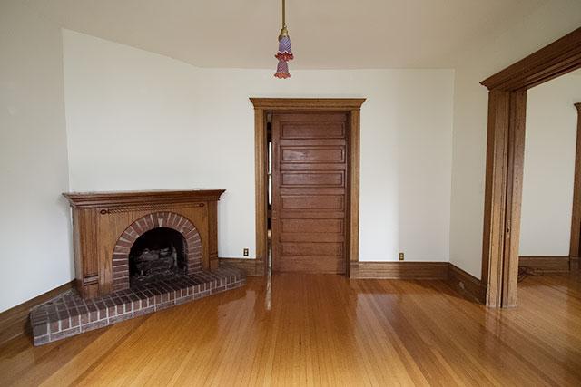 Fireplace and Pocket Door