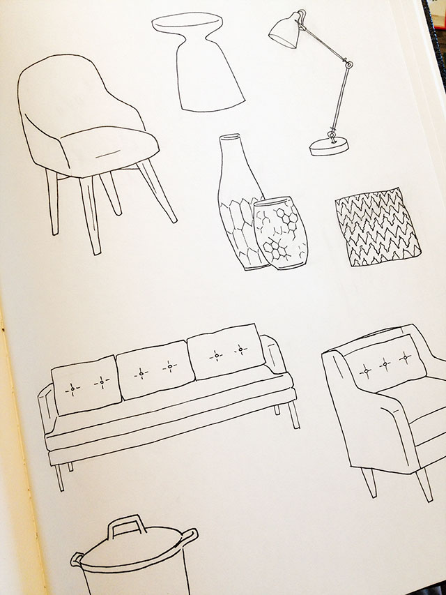 Illustrations by Nicole Balch for West Elm