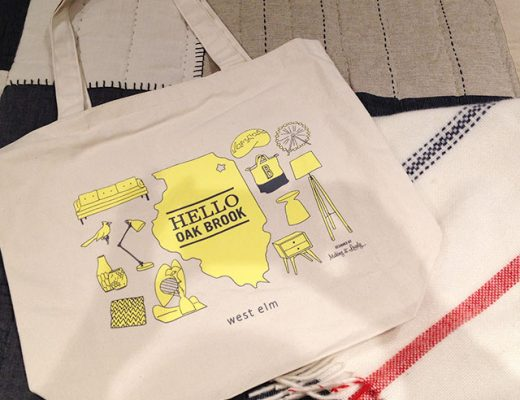 West Elm Tote Bag Drawn and Designed by Nicole Balch of Making it Lovely