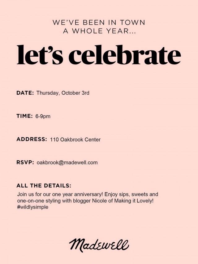 Madewell Oakbrook Invitation