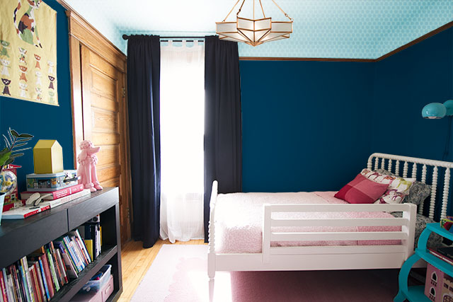 Eleanor's Room - Paint Colors - Aqua Ceiling