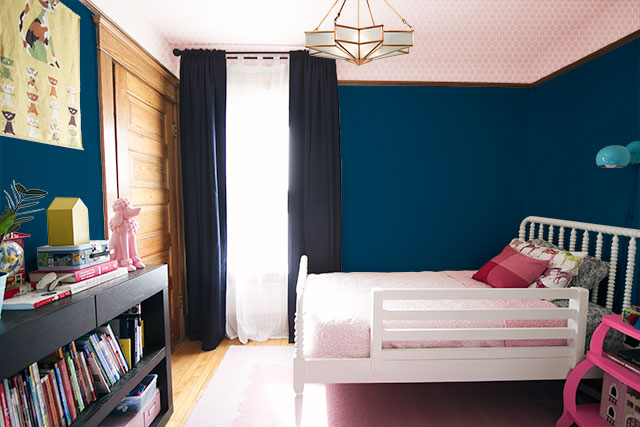 Eleanor's Room - Paint Colors - Pink Ceiling