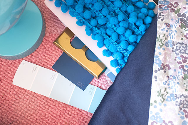 Paint Swatches, Finishes, and Fabrics