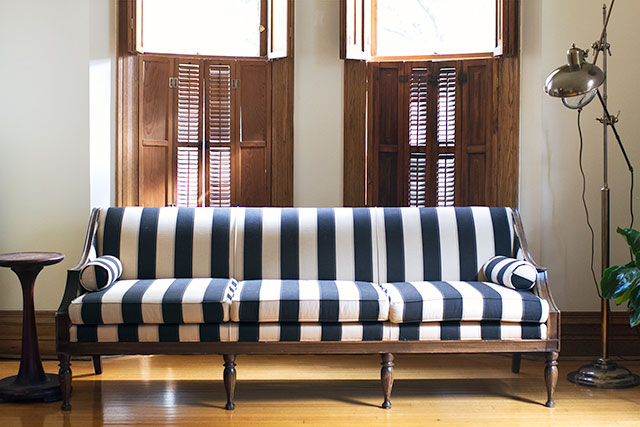 The Antique Striped Sofa - Making it Lovely
