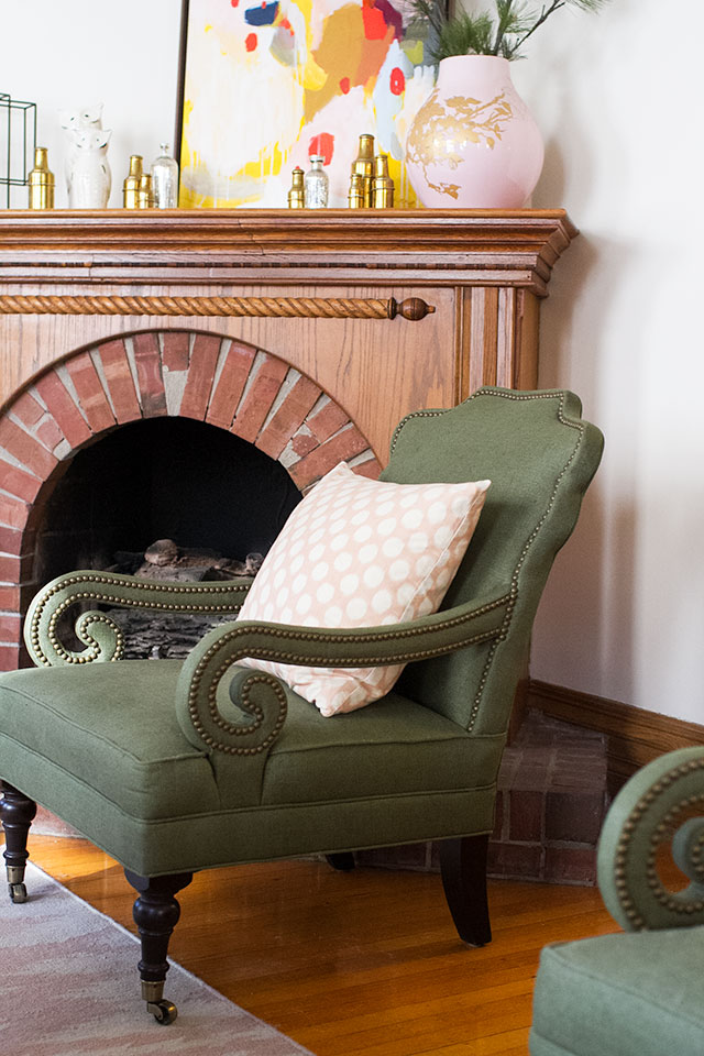 Green Penelope Chair from Jayson Home