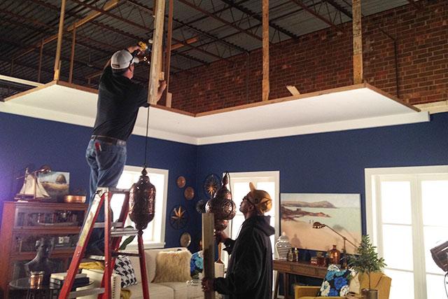 Hanging Lantern Lights in the Showroom