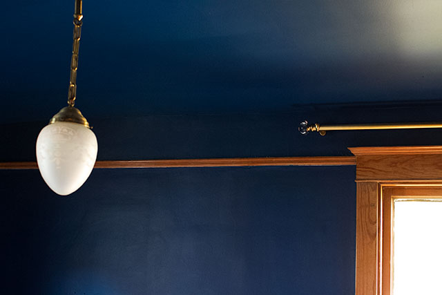 Dark Blue Walls And Ceiling