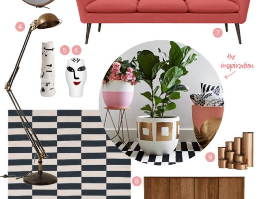 Pink, Stripes, and Wood - High