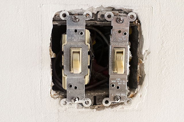 Uncovered Light Switches