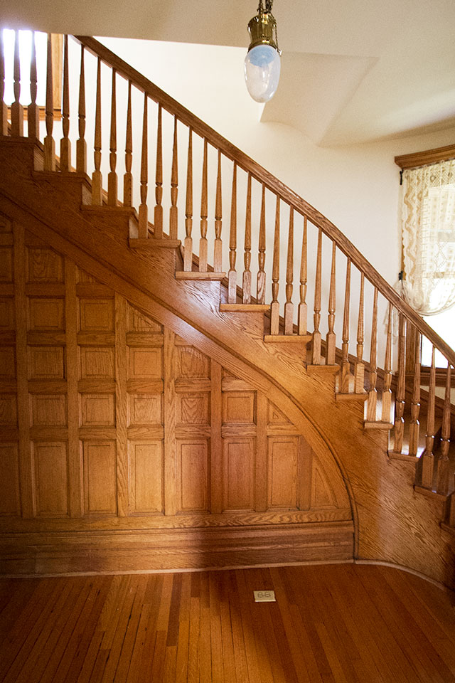 Victorian Wood Paneled Entryway