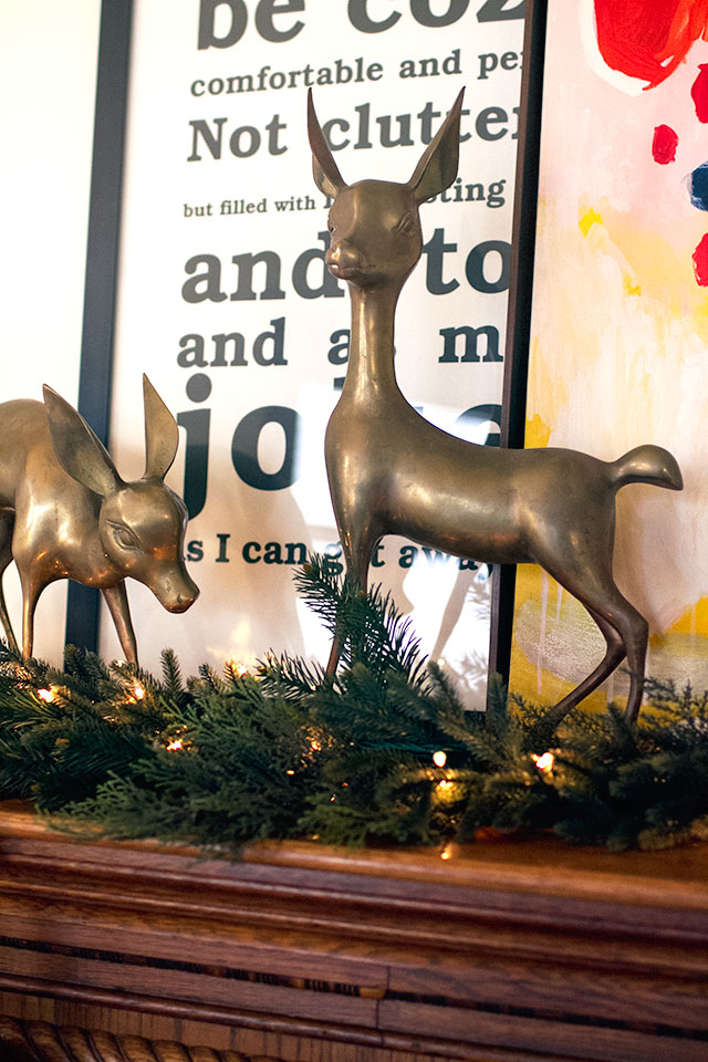 Brass Christmas Deer