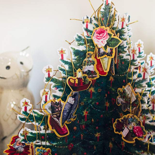 Victorian Paper Christmas Advent Tree