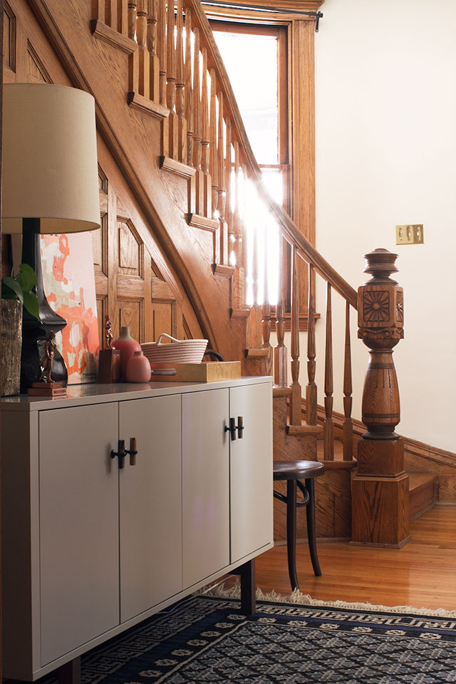 the entryway with its new sideboard making it lovely. Black Bedroom Furniture Sets. Home Design Ideas