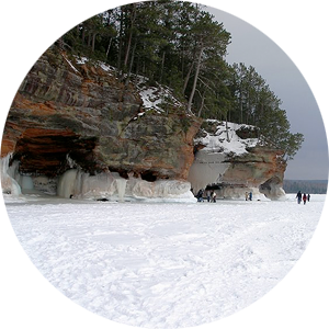 The Apostle Islands' Icy Caves