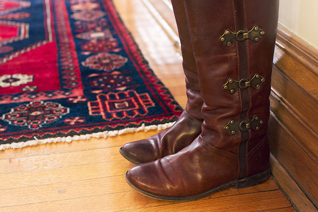 Frye Boots in the Entryway #makingitlovely