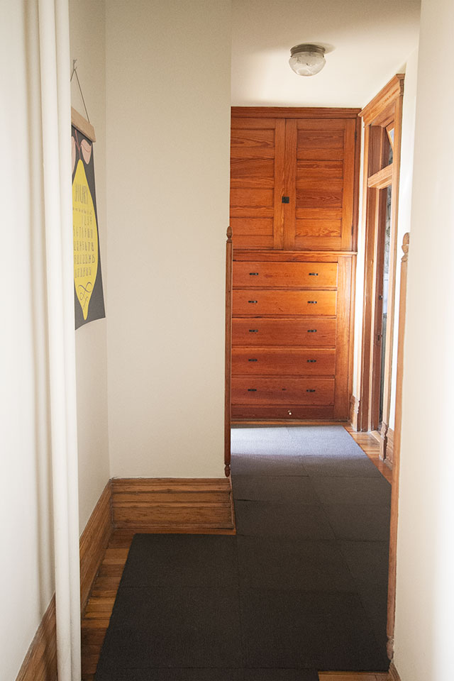 Hallway with FLOR #makingitlovely
