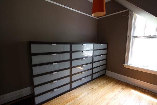 Built-in IKEA Hopen Dresser Drawers