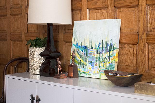 Jenny Vorwaller Painting in the Entryway #makingitlovely