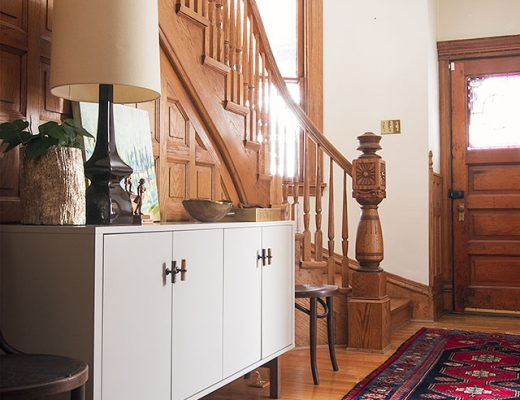 Making it Lovely's Victorian Entryway an Wooden Staircase
