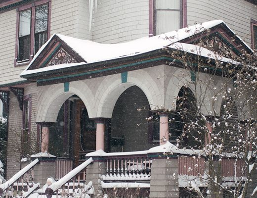 Snowy Victorian House